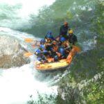 Barca de Rafting en aguas bravas Noguera Pallaresa