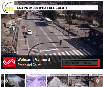 webcams pistas de esqui: