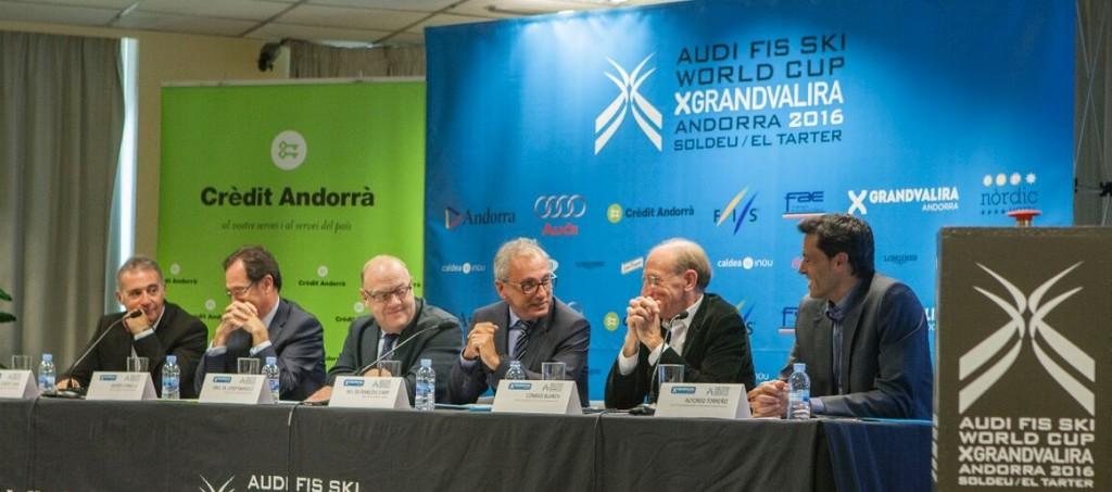 Evento Copa do Mundo Esqui Alpino rueda de prensa Grandvalira - Andorra