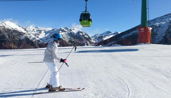 Esquiando en Aramón
