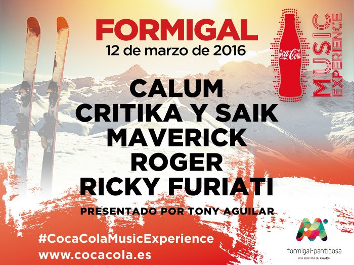 Cartel Formigal Coca Cola Music Experience