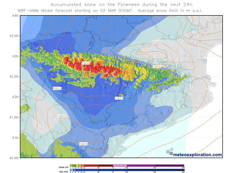 mapa acumulació de neu