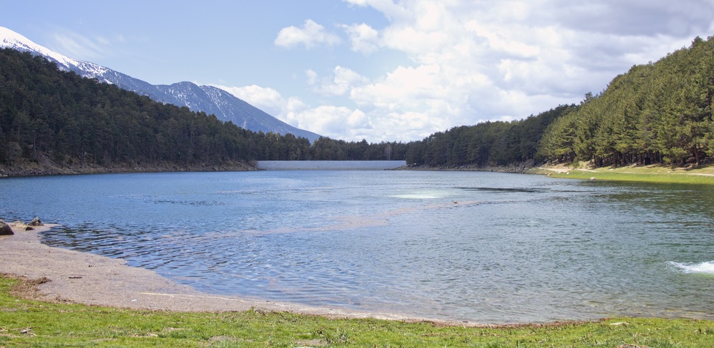 A reservoir high in the mountains of Andorra