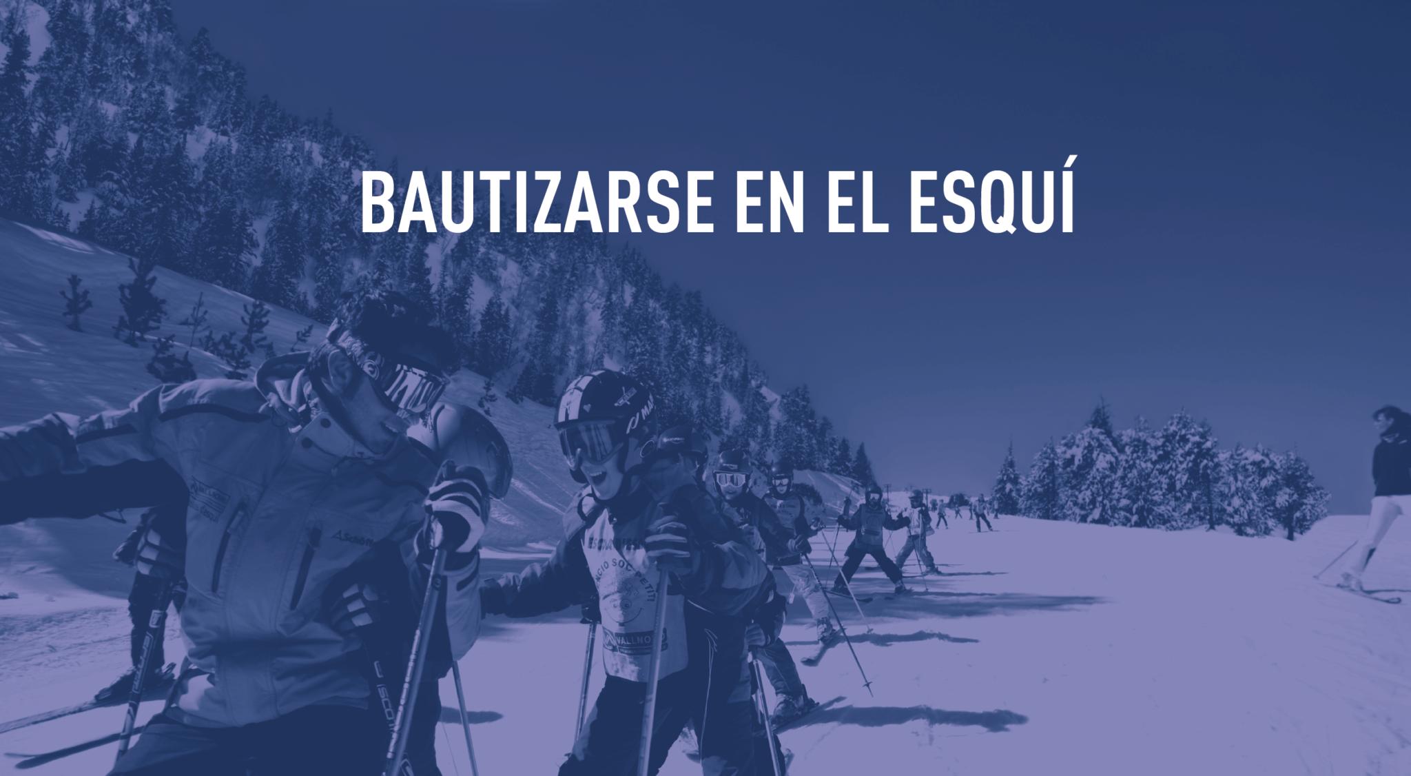 iniciación al esquí