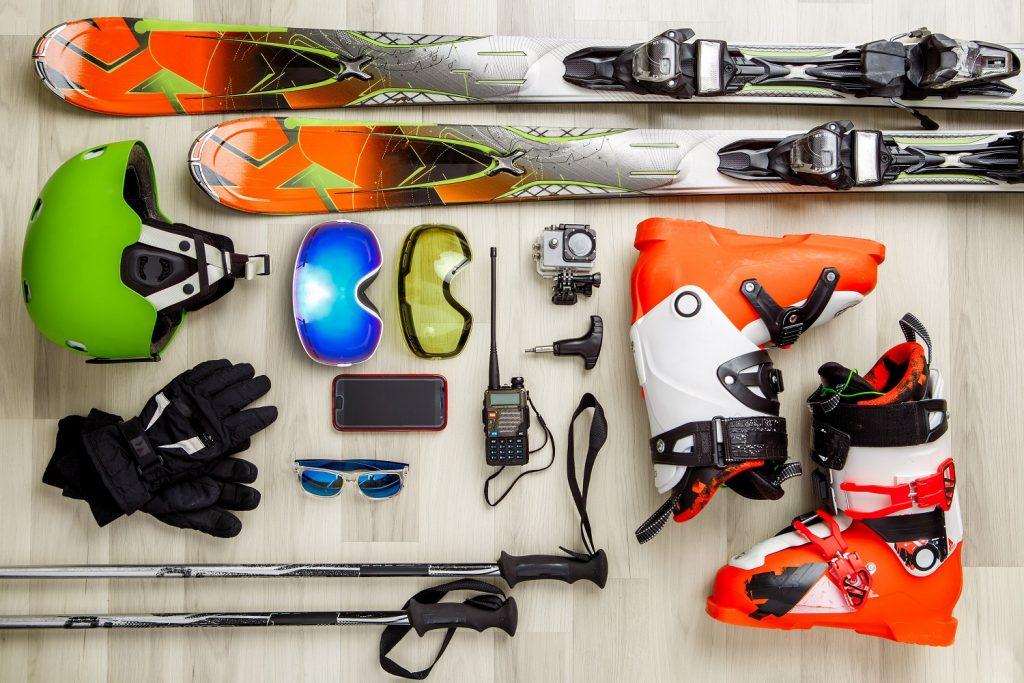 Equipo completo para esquiar