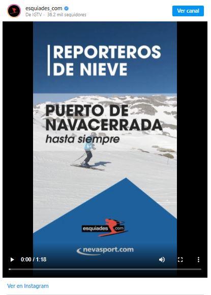 Reporteros de nieve Navacerrada