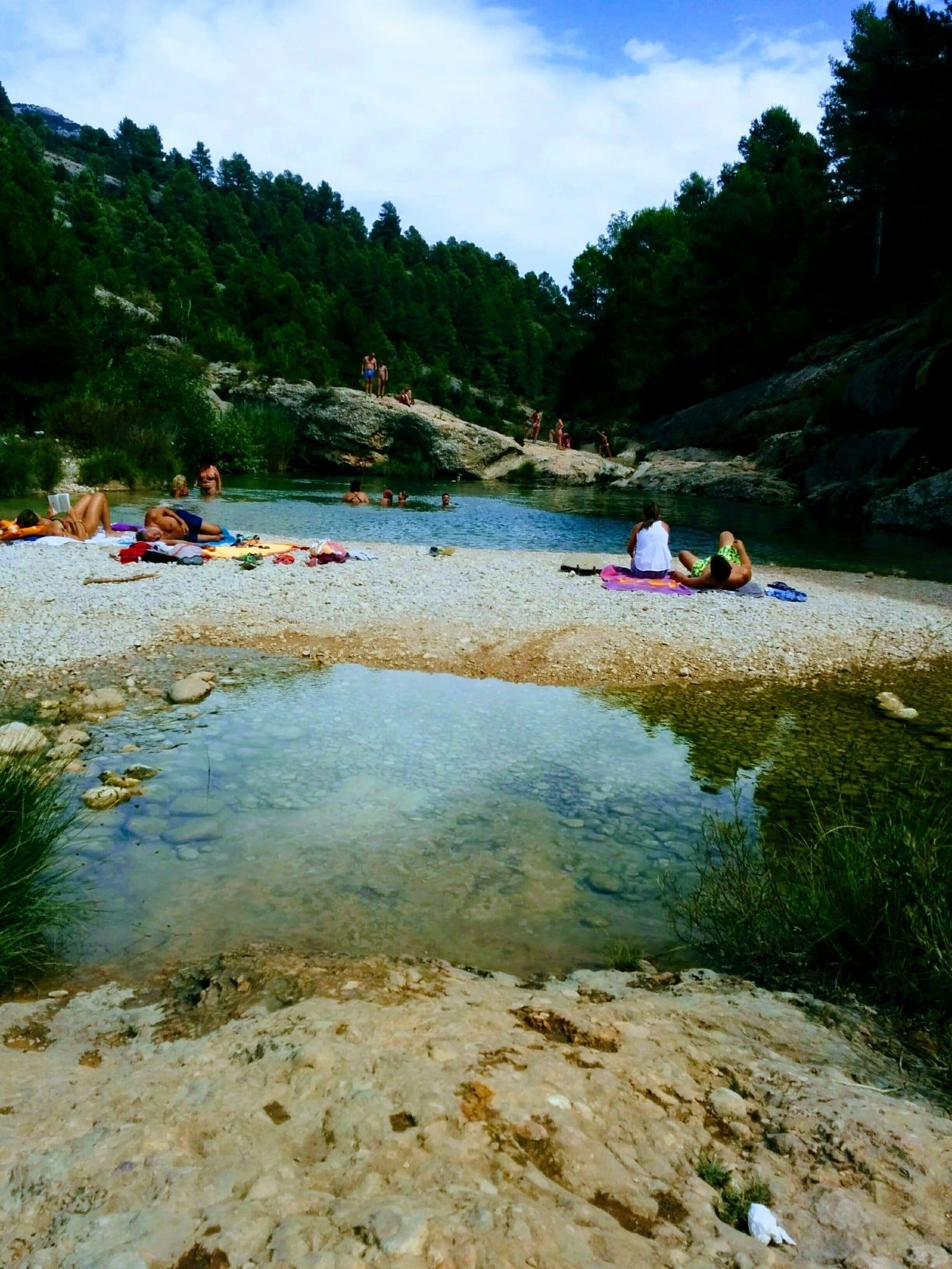 Río Muga en Albanyà, Girona